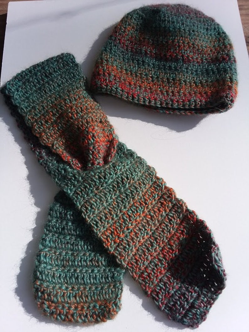 Toddler Winter Hat and Keyhole scarf Matching Set