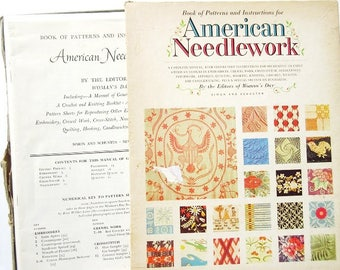 American Needlework Patterns, 176 Designs, Vintage 1963 Woman's Day, Crochet, Embroidery, Rug, More ON SALE