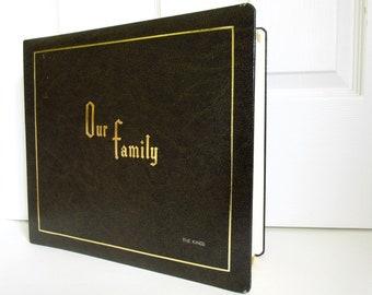 Family Photo Album, Brown Faux Leather 8x10 Vintage New