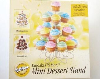 Mini Dessert Stand Wilton 24 Cupcakes N More Birthday Centerpiece