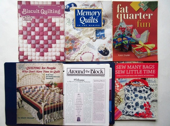Quilting book lot of 6 biscuit memory quilts fat quarter etsy