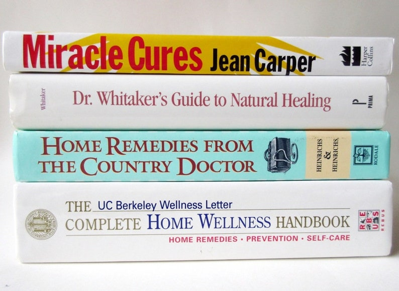 4 Health Books, Miracle Cures, Dr Whitaker Guide Natural Healing, Home  Remedies From Country Doctor, Home Wellness Handbook ON SALE