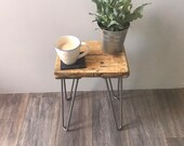 WILLIAM- Modern Rustic Industrial Reclaimed Scaffold Wood Side Table