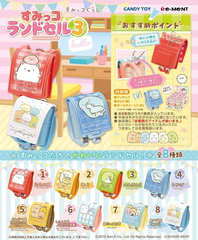Re-ment Sumikko Gurashi School Bag 3 Minikko
