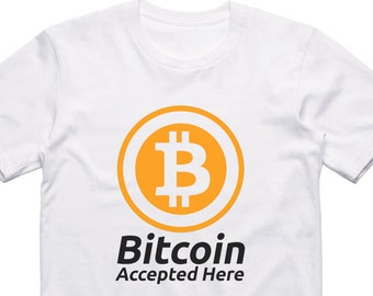 199943acbede Bitcoin Accepted Here White Slogan Crypto T Shirt - BTC Graphic Tee - Fun  Digital Currency T-Shirt - Lambo Moon DYOR Trading 100% Cotton