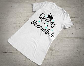 0cbb200b2 Items similar to December Birthday T-Shirt Gift :