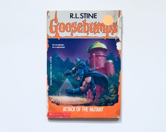 GOOSEBUMPS Series R.L Stine Vintage 90's Paperback Book #25 Attack of The Mutant