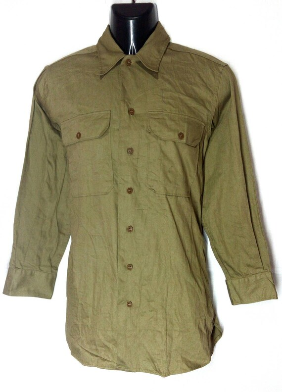 Vintage Rare!!! WWII khaki tan US military office… - image 3
