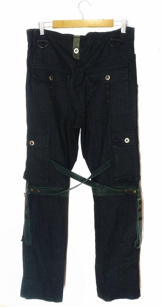 Vlone style RAIN bondage cargo pant punk fashion