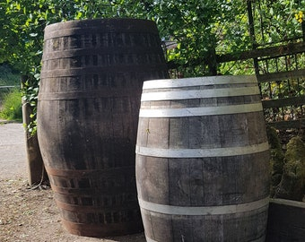 Very large 500l oak whisky barrel suitable for water butts, ice baths or decoration. Free UK mainland delivery!