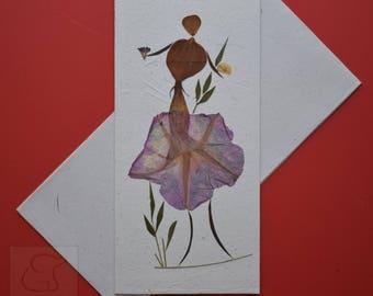 Handmade Flower Greeting Card - (Item Code : PK-LG-N8)