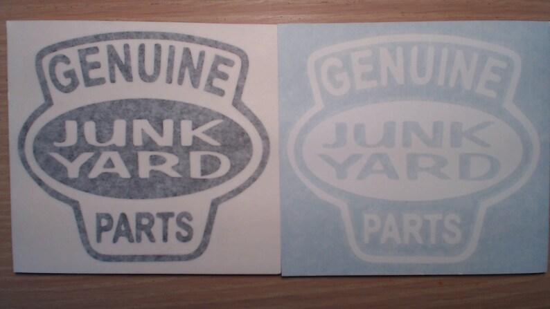 Genuine Junk Yard Parts Rat Rod Car Window Decal Chevy Ford Pontiac Dodge  Old Skool