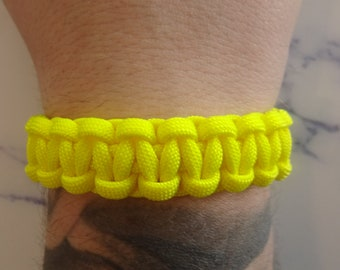 Yellow 550 Paracord survival bracelet