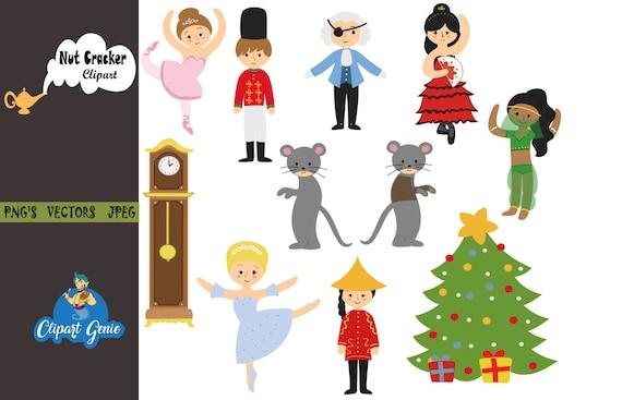 Nutcracker Christmas Tree Clipart.Nutcracker Clipart Christmas Digital Clip Art Christmas Tree Nutcracker Suite Ballerina Fairy Princess Clipart Mouse King Ballet