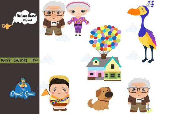 Balloon house clipart UP movie clipart Balloon clipart | Etsy