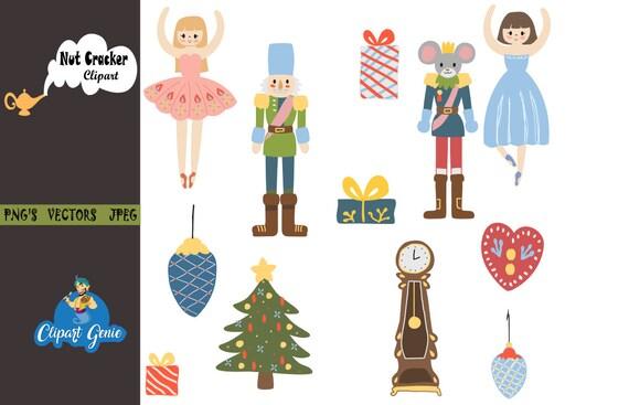 Nutcracker Christmas Tree Clipart.Nutcracker Clipart Christmas Digital Clip Art Christmas Tree Clipart Nutcracker Suite Ballerina Fairy Princess Clipart Mouse King