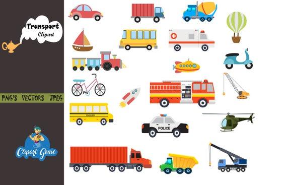 Transport Clipart Set Transportation Clipart Vehicles