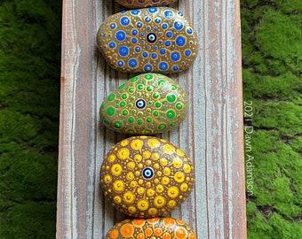 Hand Painted Meditation Rock Set - 7 Chakras