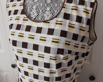 1960s Brown and Yellow Day Dress