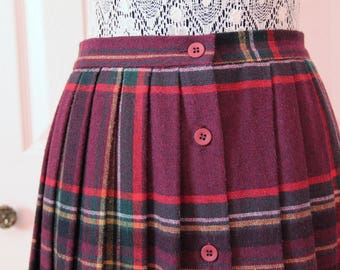 1960s or 1970s Plaid School Girl Skirt