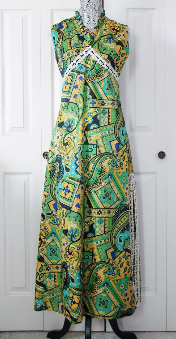 1960s Mod Maxi Dress Medium