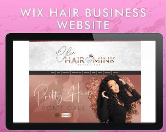 Rosegold Wix Hair Business Website Template, Rose Gold Premade Extensions Website, Web Design, Salon, Boutique, Makeup Artist, Lash Artist