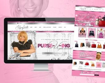 Hair Business Website, Boutique Website Design, Custom Wix Template, Salon, Spa, Fashion, Clothing Line, Lash Tech, Medspa, Web Designer