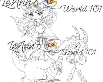 Dragonrider - Digital Stamp
