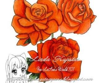 Roses - Digital Stamp