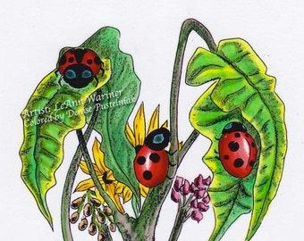 Ladybug Love - Digital Stamp
