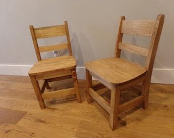 Vintage School Chair Etsy