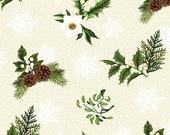 Winter Twist, White Sprigs on Cream, Jason Yenter, In the Beginning Fabrics