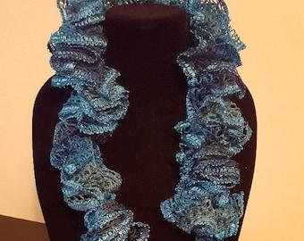 Turquoise Handmade Crochet Scarf