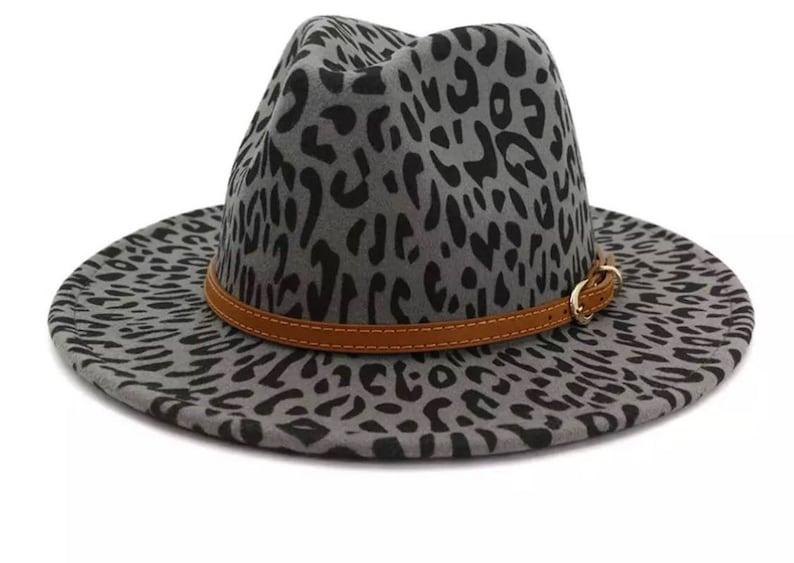 Leopard Print Fedoras