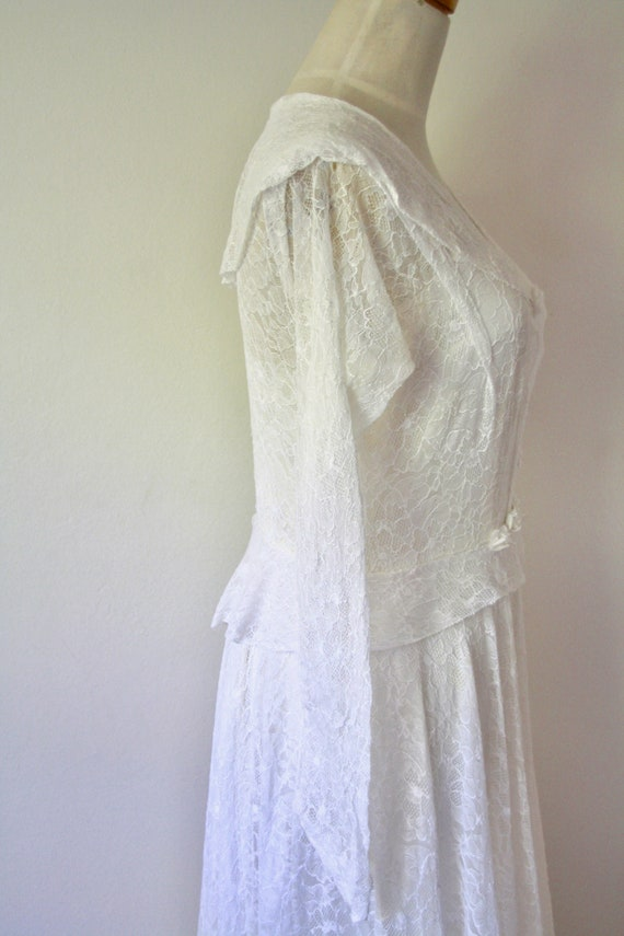 30s lace wedding dress. 30s silk and lace gown. 3… - image 9