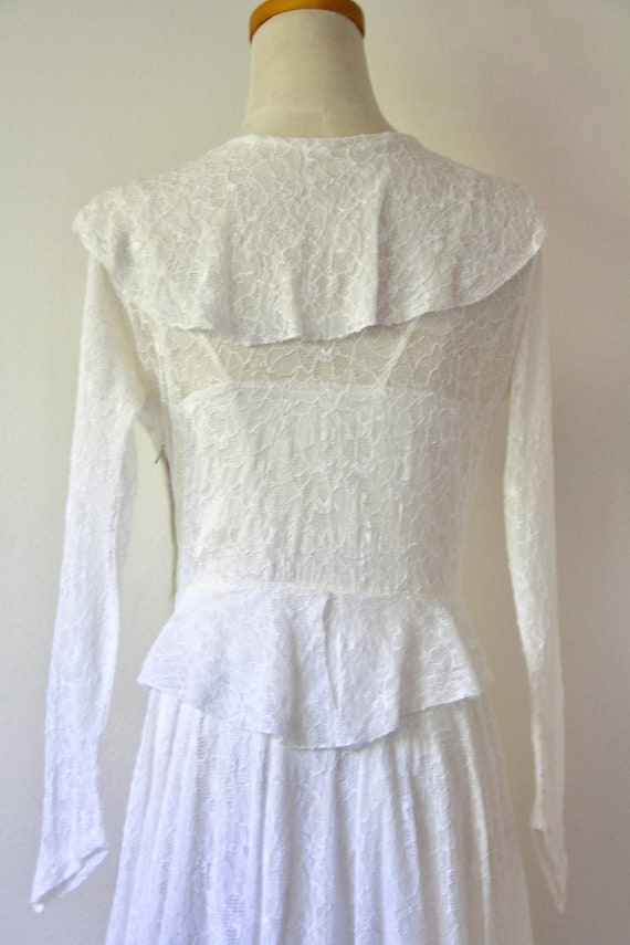 30s lace wedding dress. 30s silk and lace gown. 3… - image 8
