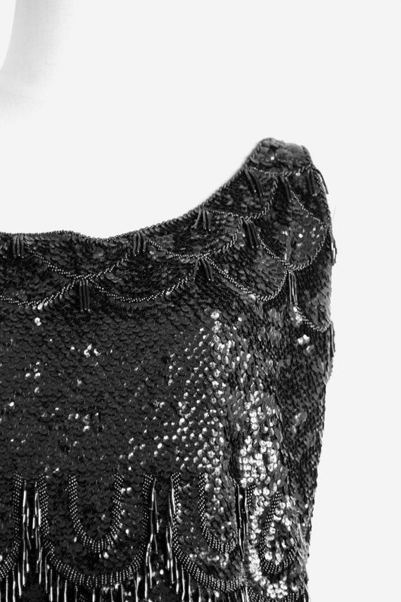 1950s black sequin top. Wool sequin top. Winter s… - image 4