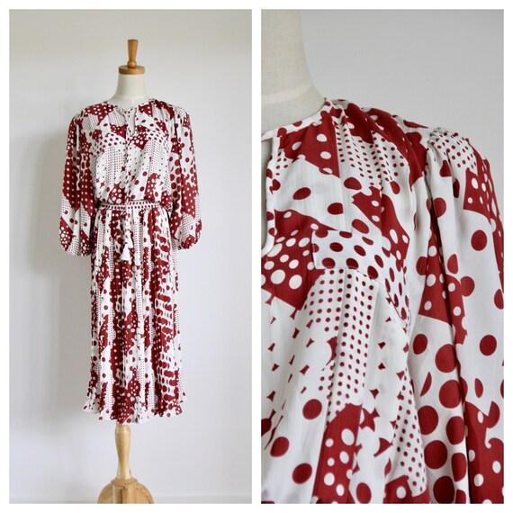 Vintage Diane Freis dress. Rare Diane Freis. Graph