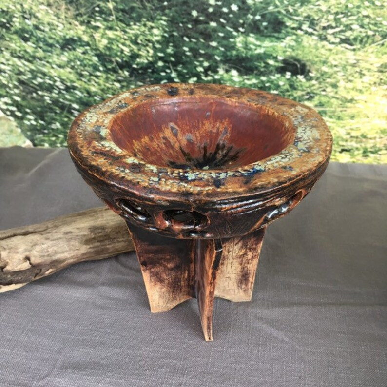 Carved smudge bowl