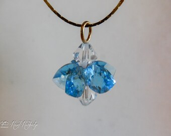 Aqua & Clear Austrian Crystal Necklace