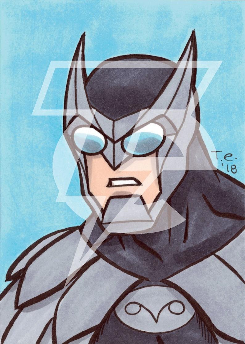 Owlman Original Sketch Card