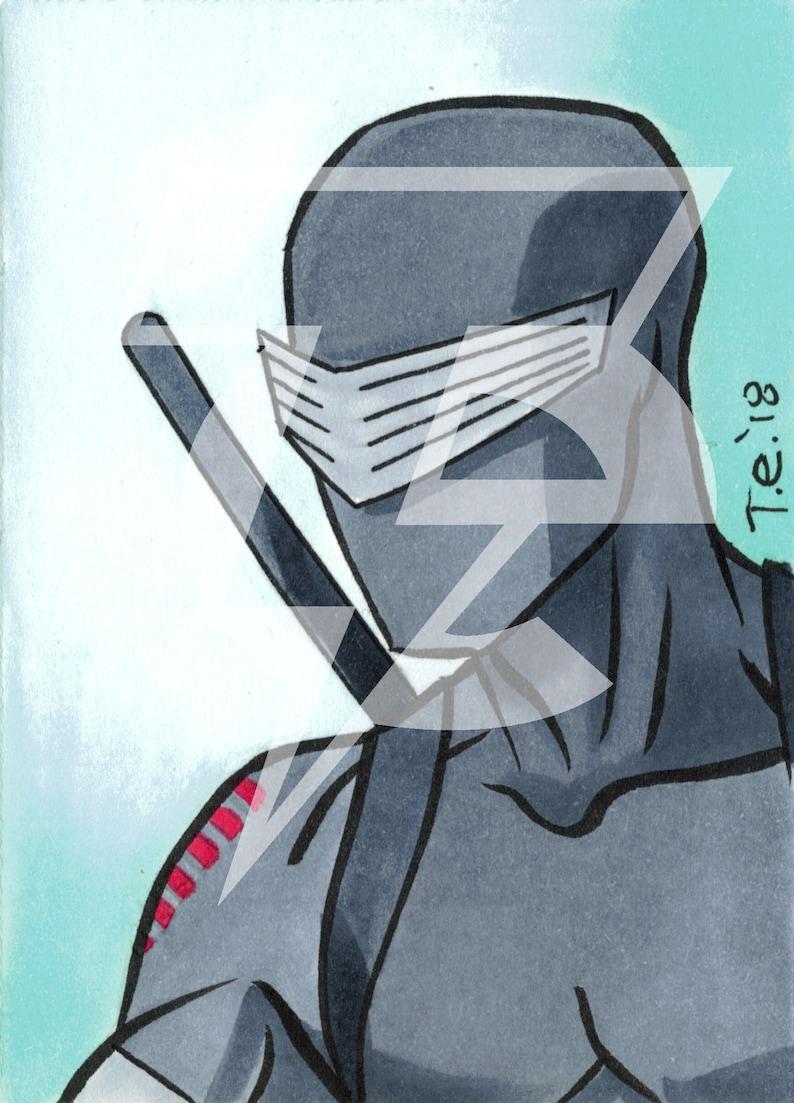 Snake-Eyes Original Sketch Card