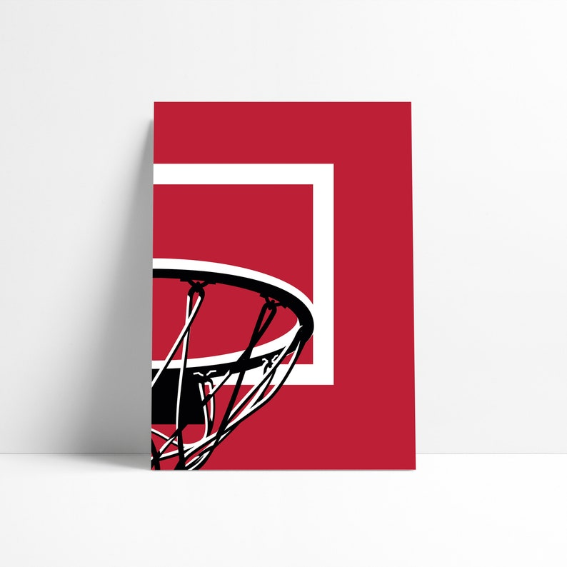 image regarding Chicago Bulls Schedule Printable referred to as Chicago Bulls NBA Basketball Backboard Printable Print Wall Artwork Poster Minimum amount Summary Art Electronic Down load Instance Wall Artwork
