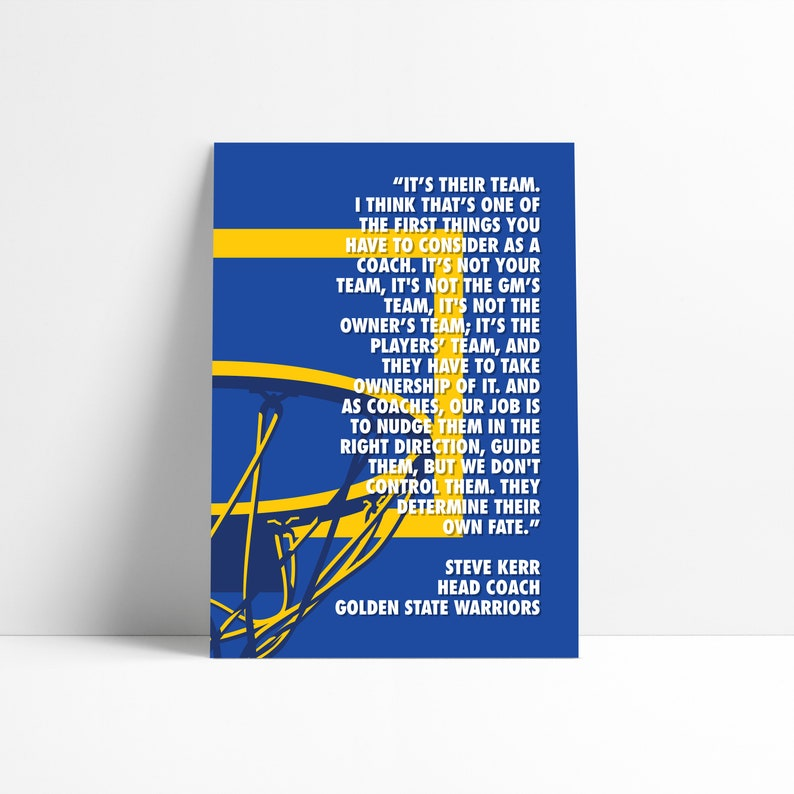 photograph relating to Warriors Schedule Printable identified as Steve Kerr Golden Country Warriors NBA Printable Print Wall Artwork Poster Reduced Summary Art Electronic Down load Instance Wall Artwork