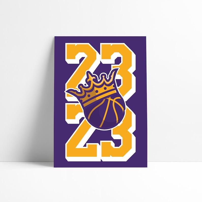 287df3bbeef6 King Of LA 23 Los Angeles Lakers Lebron James Kobe Bryant