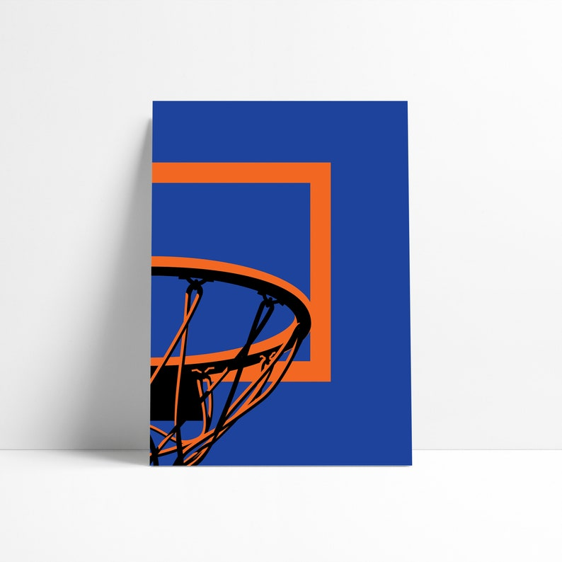 image about Knicks Printable Schedule referred to as Fresh new York Knicks NBA Basketball Backboard Printable Print Wall Artwork Poster Lower Summary Art Electronic Down load Example Wall Artwork