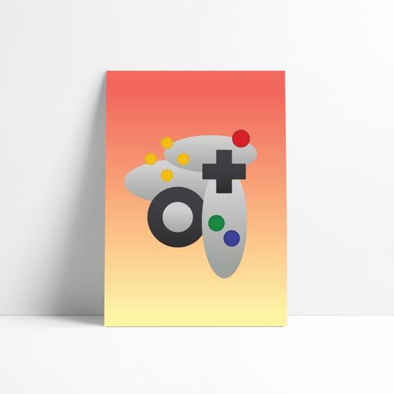 Nintendo 64 N64 Art Print Poster Abstract Artwork Wall Art Etsy