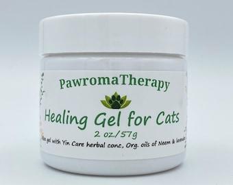 Natural Healing Gel for Cats, Cat healing salve, wound gel, cat allergies