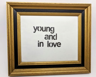 Framed Young and in Love stamp print