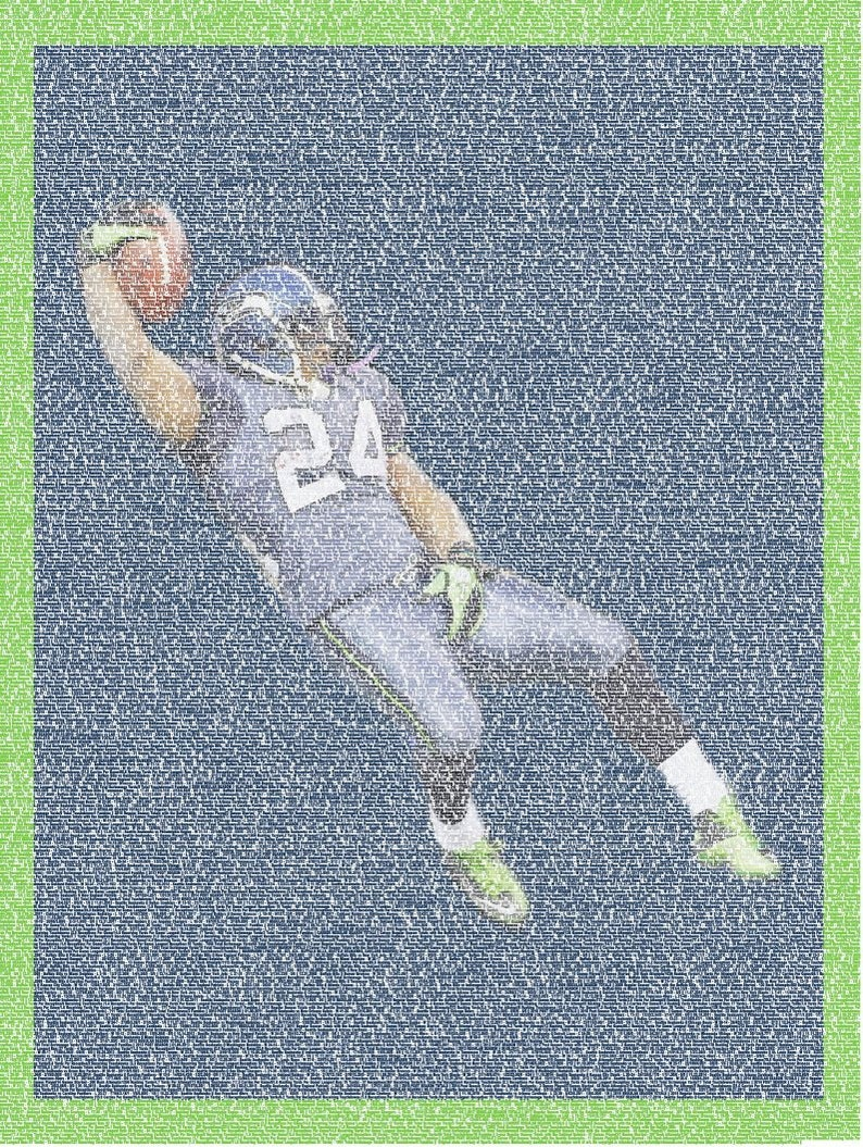 separation shoes f008a 86682 Marshawn Lynch (Seattle Seahawks, NFL) Poster Beast Mode Stats SportPrint  Gift